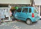 Suzuki wjecha�o do sklepu odzie�owego na Mokotowie
