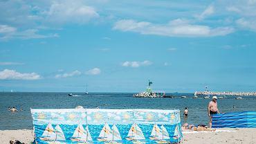 Parawany na gdańskiej plaży