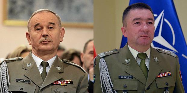 Od lewej gen. Gocuł i gen. Gen. Surawski