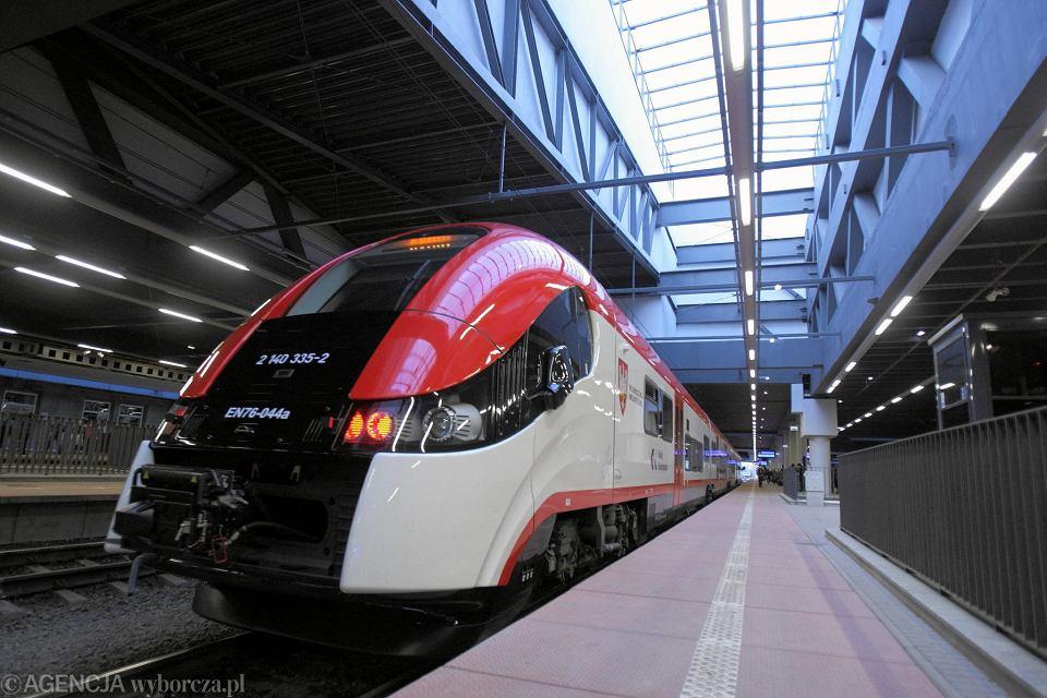 Pociąg Kolei Wielkopolskich do Konina