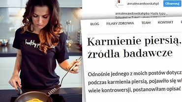 Anna Lewandowska znowu zabrała głos na temat diety kobiet karmiących piersią.