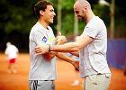 Marcin Gortat i Jerzy Janowicz zagrali ze sob� w tenisa [ZDJ�CIA]