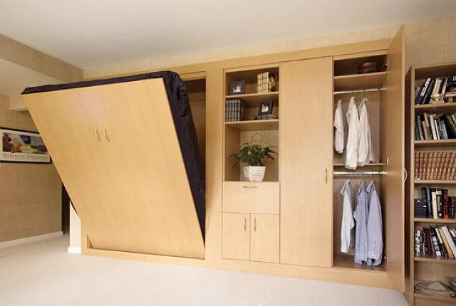 ko chowane w szafie spos b na ma y metra. Black Bedroom Furniture Sets. Home Design Ideas