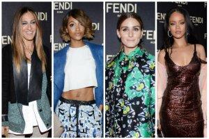 Rihanna, Sarah Jessica Parker, Olivia Palermo, Naomi Campbell, Jourdan Dunn i inne gwiazdy, modelki oraz blogerzy na imprezie marki FENDI [DU�O ZDJ��]