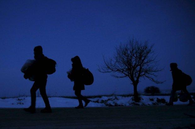 Migranci na macedo�skiej granicy