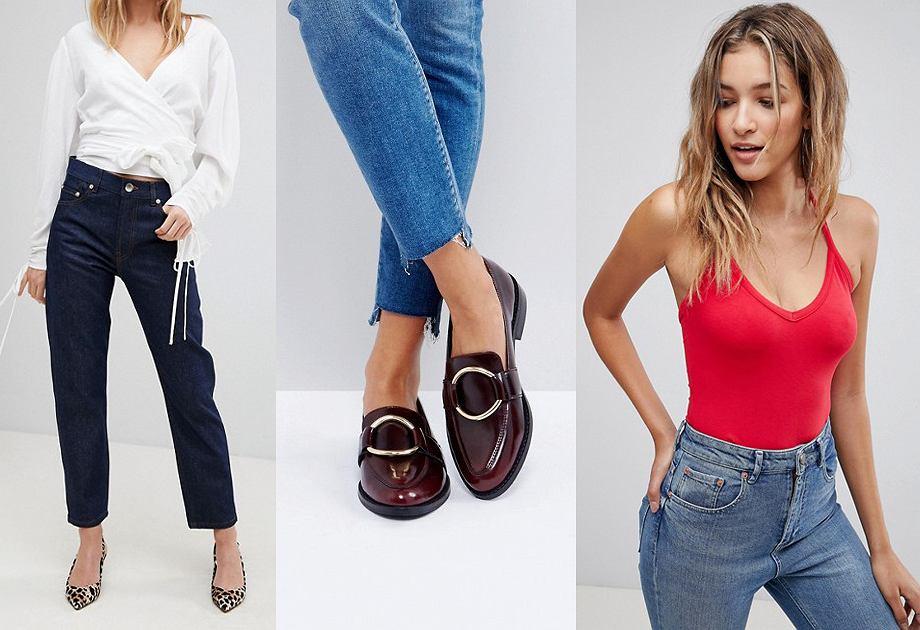 Asos - jeansy, mokasyny, body