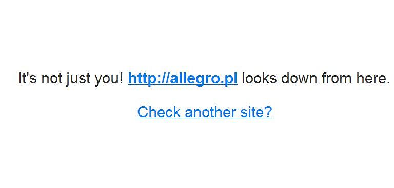 Allegro nie działa