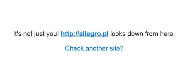 Allegro nie dzia�a