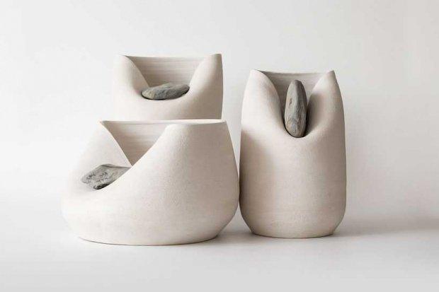 Design: wazon z kamieniem