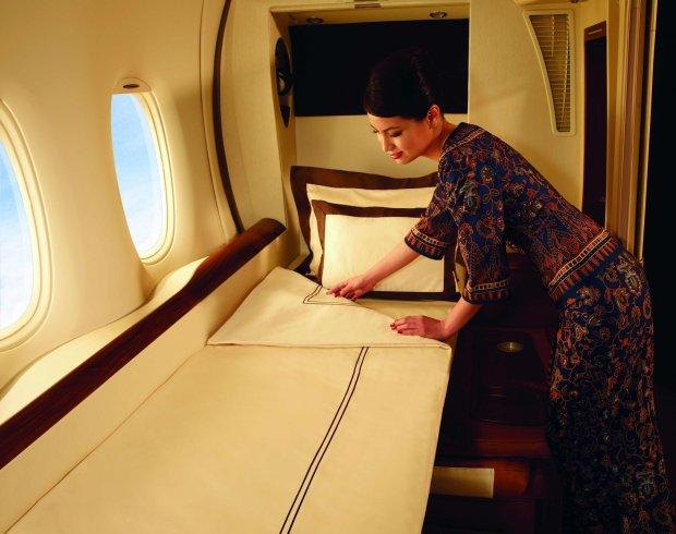 Kajuta dostępna w Airbusie A380, fot. Singapore Airlines