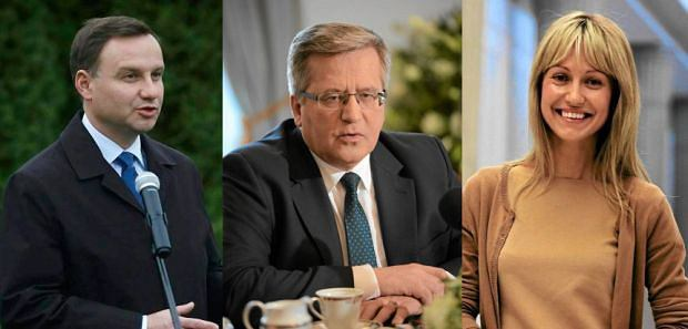 Andrzej Duda, Bronis�aw Komorowski, Magdalena Og�rek