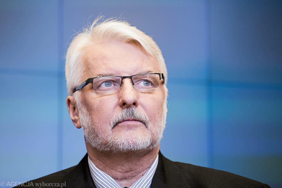 Minister spraw zagranicznych w rządzie PiS Witold Waszczykowski