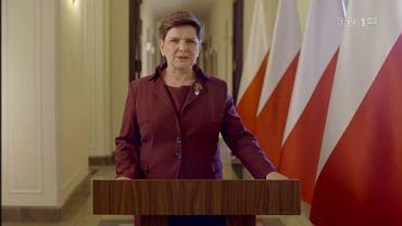 Beata Szydło wygłosiła orędzie w przeddzień debaty o Polsce w Komisji Europejskiej