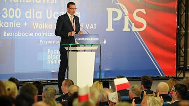Premier Mateusz Morawiecki przemawia na konwencji PiS w Szczecinie
