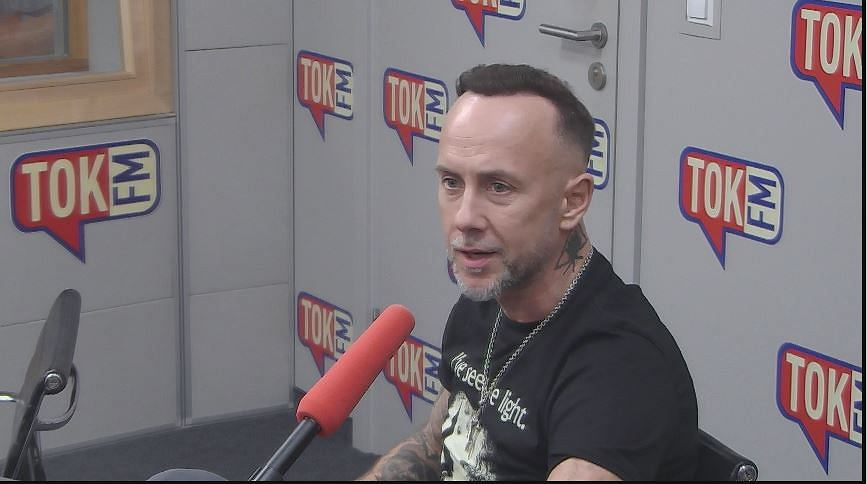 Adam Nergal Darski w studiu TOK FM.