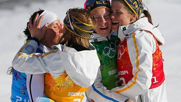 Charlotte Kalla, Anna Haag, Emma Wiken i Ida Ingemarsdotter