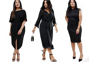 c87284df8b Czarne sukienki plus size marki Asos! Wiele modeli z wyprzedaży
