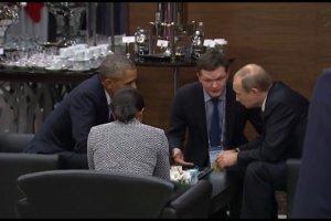 Spotkanie Obamy i Putina podczas Szczytu G20. Wida�, �e zaaran�owane napr�dce