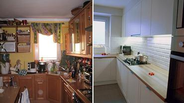 Kuchnia przed metamorfozą i po.