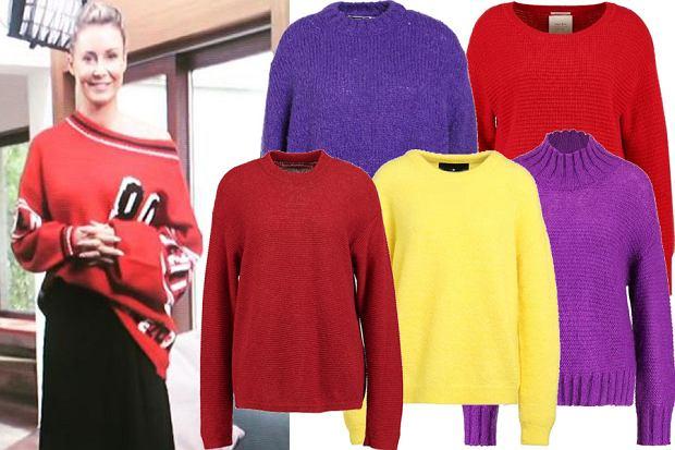 Kolaż, kolorowe swetry/Materiały partnera/fot. www.instagram.com/m_rozenek/
