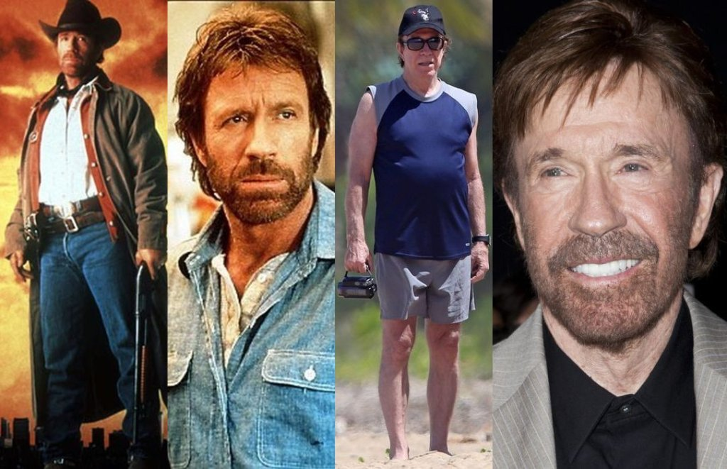 Zdjęcie numer 1 w galerii - Oczy Was nie mylą: tak teraz wygląda Chuck Norris! A Van Damme? Też będziecie zaskoczeni. Filmowi twardziele kiedyś i dzisiaj