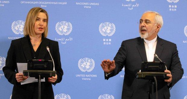 Federica Mogherini na wsp�lnej konferencji prasowej z ministrem spraw zagranicznych Iranu Mohammadem D�awadem Zarifem
