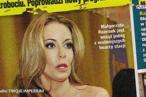 Ma�gorzata Rozenek straci�a prac� w TVN-ie? Jest jej komentarz