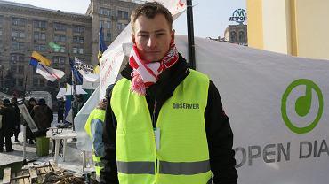 Bartosz Kramek, wolontariusz Otwartego Dialogu. Kijów 29 stycznia 2014