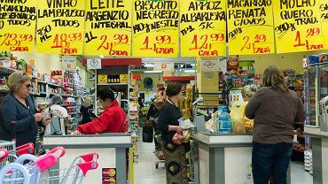 Kasy w supermarkecie