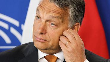 Premier Węgier Viktor Orban w Parlamencie Europejskim.