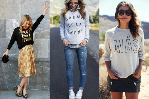 Damskie bluzy z napisami - musisz je mieć!