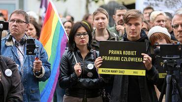 Łódź 02.07.2018. Protest przeciwko zaostrzeniu prawa aborcyjnego