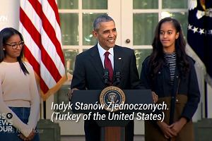 Prezydent Obama ułaskawia indyki. I robi to w bardzo zabawny sposób