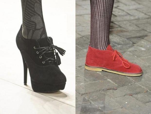 Zamszowe buty na jesie�