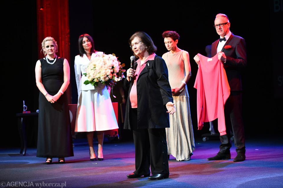 16.04.2018, Teatr Studio, na gali Superbohaterki Wysokich Obcasów, Superbohaterka 2017, Halina Birenbaum