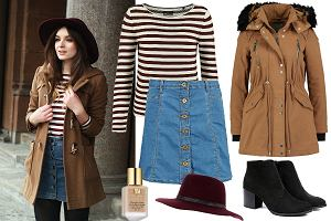 Spódnica jeansowa zimą - jak ją nosić