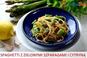�atwy przepis na spaghetti z zielonymi szparagami i cytryn�