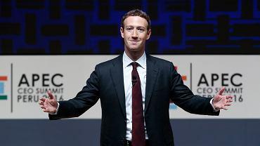 Mark Zuckerberg, twórca i szef Facebooka