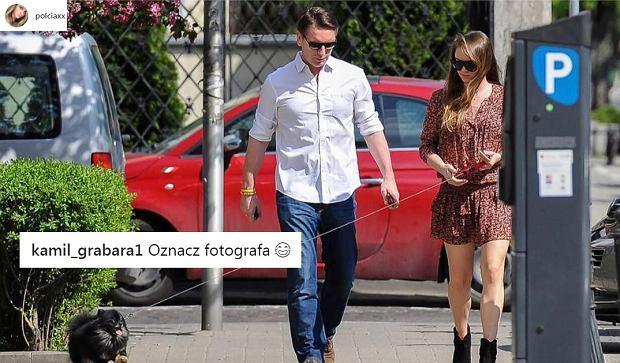 Pola i Tomasz Lisowie na spacerze