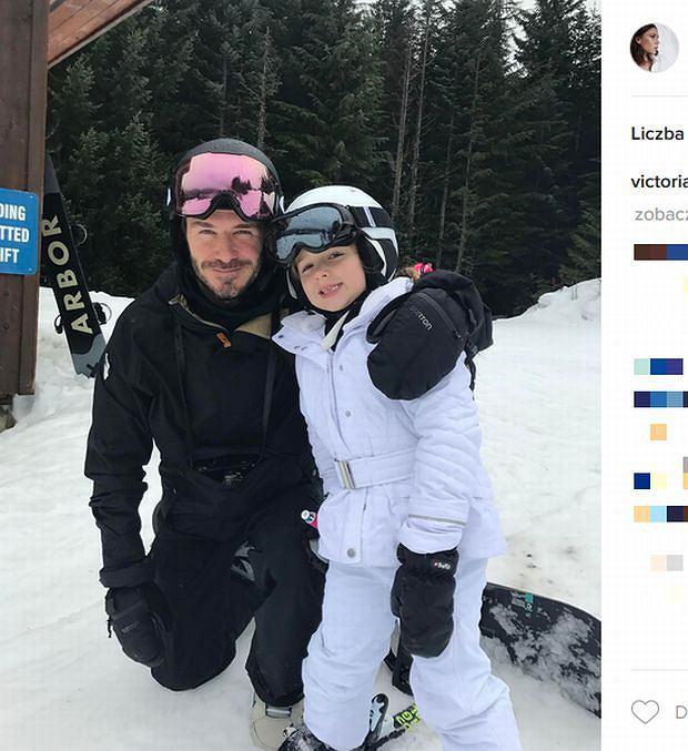 Zdjęcie numer 7 w galerii - Rodzina Beckhamów w górach. Harper uczy się jeździć na nartach! Nie obyło się bez WYPADKU. Zobaczcie nagranie