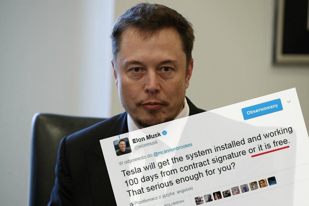 Zakład Elona Muska z australijskim miliarderem