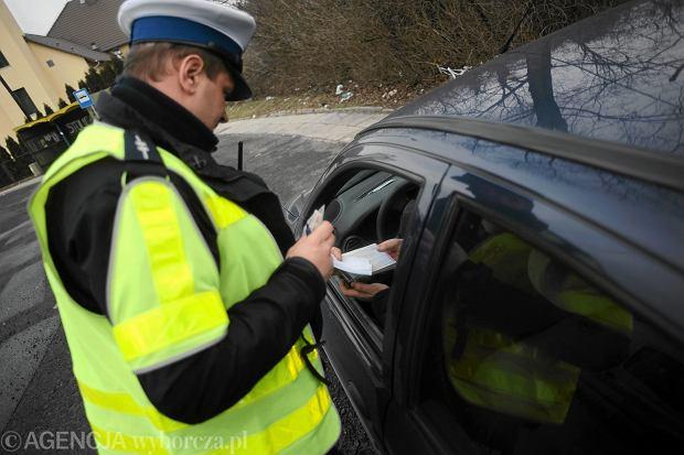 Funkcjonariusze drog�wki podczas pracy, Opole