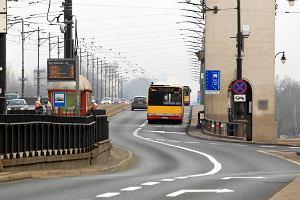 Nowe buspasy już są. Autobusy pojadą szybciej na moście