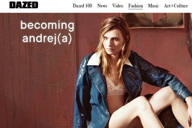 """Andreja Pejić w sesji i szczerym wywiadzie dla """"Dazed"""". Modelka pierwszy raz pozuje topless po operacji korekty płci"""