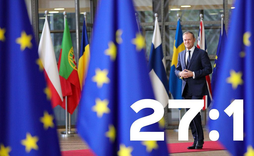 27 do jednego dla Donalda Tuska