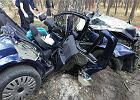 Wypadek pod Krosnem Odrzańskim. Kierowca zginął na miejscu, pasażerka przez całą noc była uwięziona w aucie
