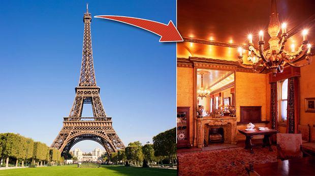 Eiffel na wieży miał swój prywatny apartament, w którym gościł między innymi Thomasa Edisona