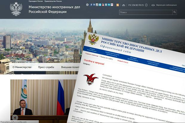 """Amerykański haker atakuje stronę rosyjskiego MSZ. """"Nie będę siedzieć bezczynnie i patrzeć, jak się z nas śmieją"""""""