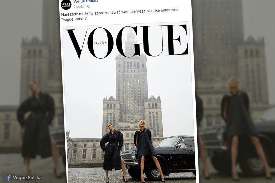 Pierwsza okładka pierwszego wydania 'Vogue Polska'
