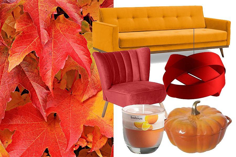 Czerwień i pomarańczowy we wnętrzach